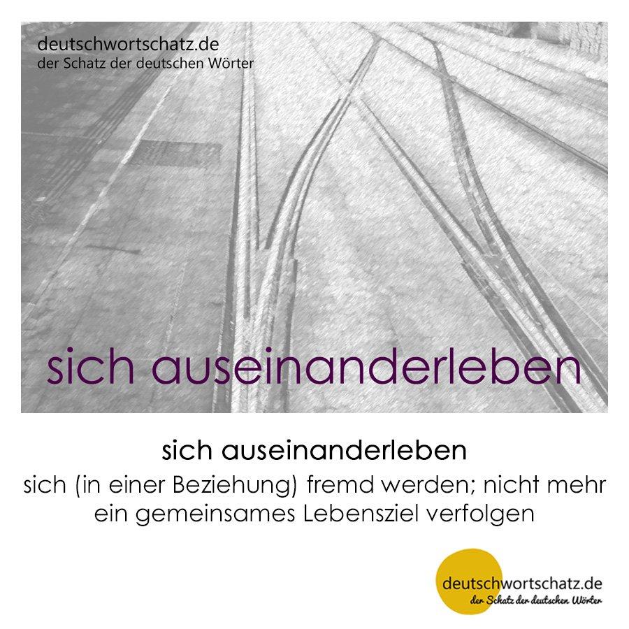 sich auseinanderleben - Wortschatz mit Bildern lernen - Deutsch lernen