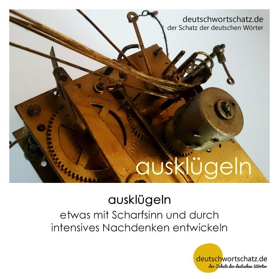 ausklügeln - Wortschatz mit Bildern lernen - Deutsch lernen