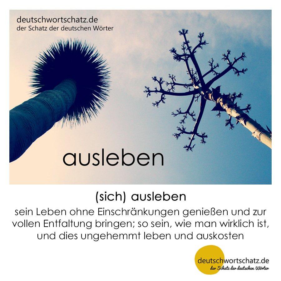 ausleben - Wortschatz mit Bildern lernen - Deutsch lernen