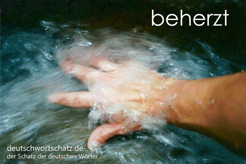 beherzt - mutig - entschlossen - deutschwortschatz - Wortschatz Deutsch