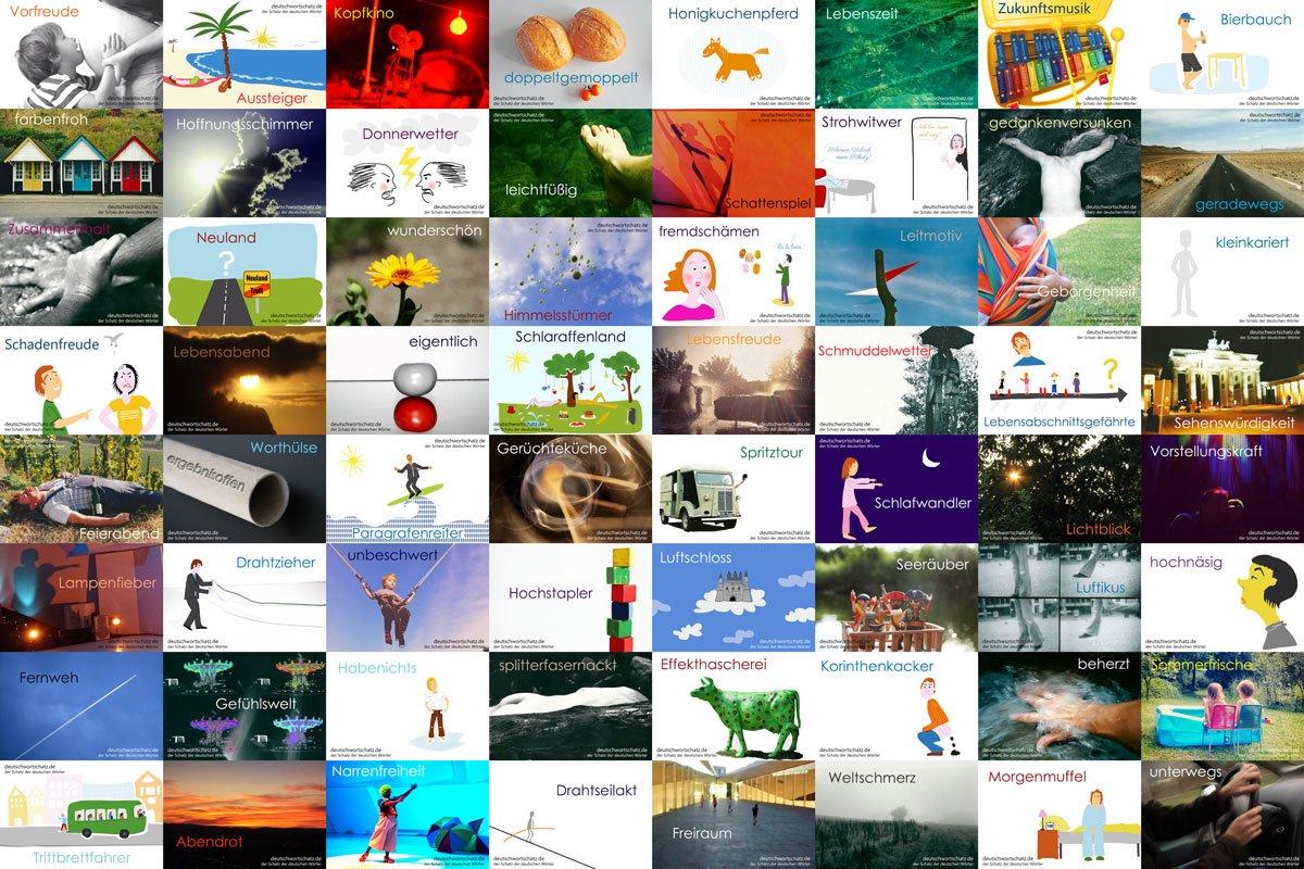 die schönsten deutschen Wörter - schöne deutsche Wörter - Deutsch Wortschatz - Wortschatz Deutsch - Wortschatz Bilder - schöne Wörter Bilder