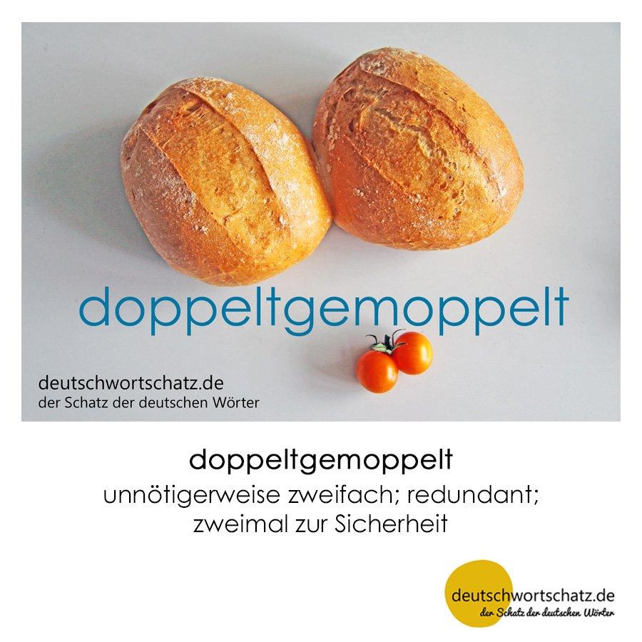 doppeltgemoppelt - Wortschatz mit Bildern lernen - Deutsch lernen