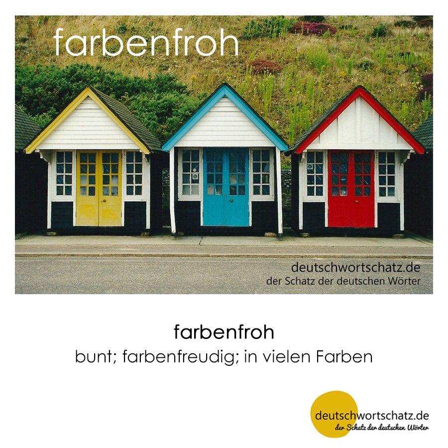 farbenfroh - Wortschatz mit Bildern lernen - Deutsch lernen