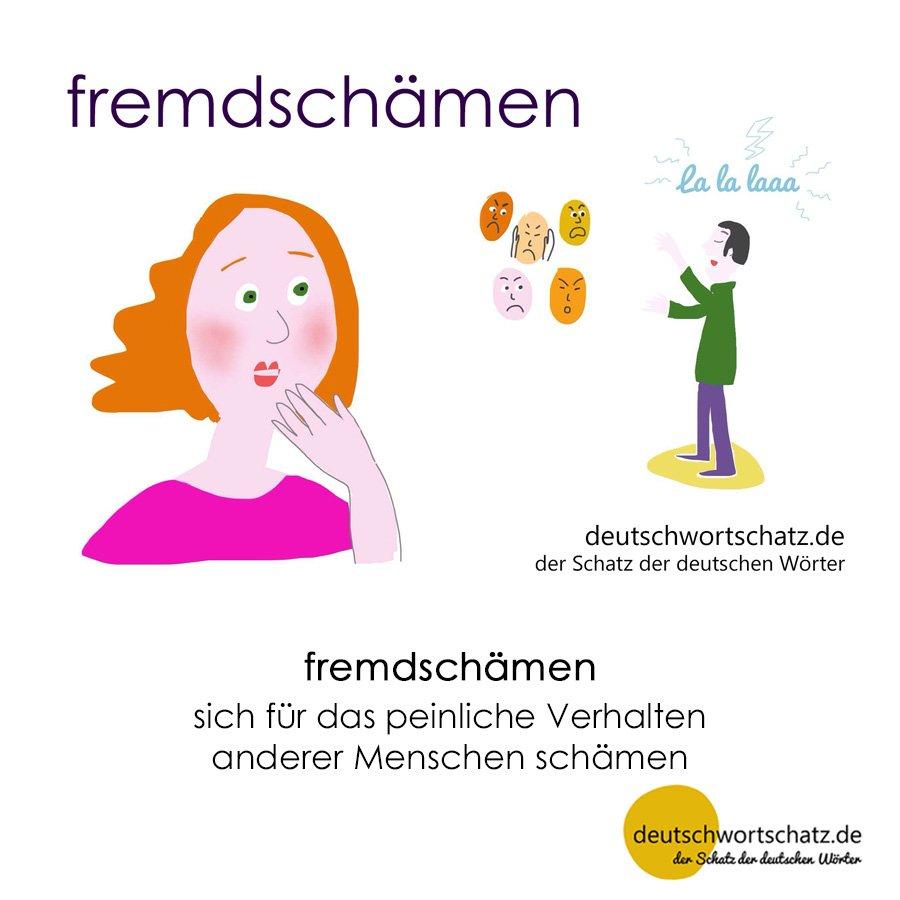 fremdschämen - Wortschatz mit Bildern lernen - Deutsch lernen