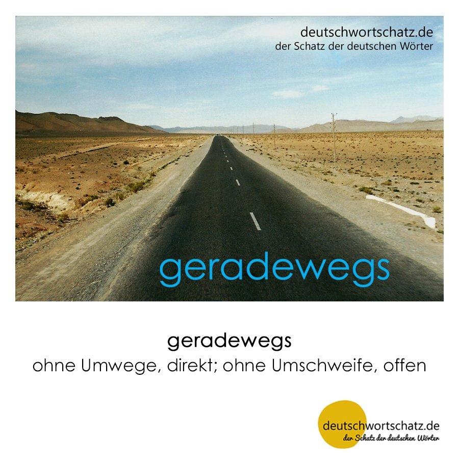geradewegs - Wortschatz mit Bildern lernen - Deutsch lernen