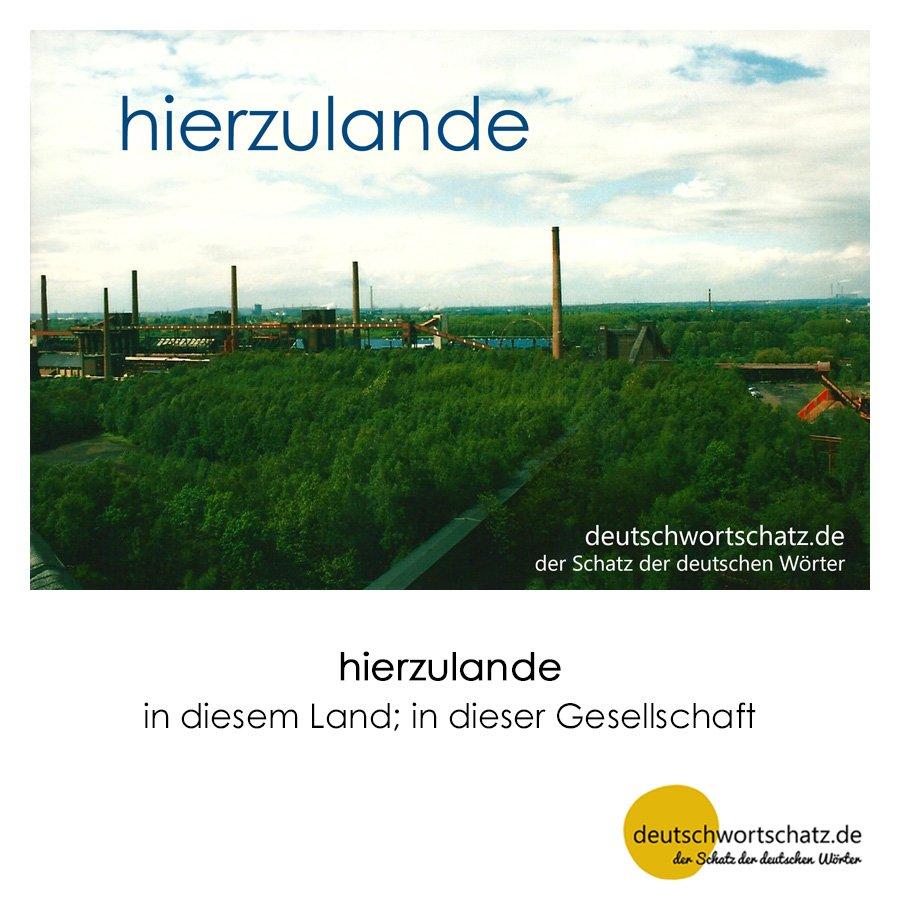 hierzulande - Wortschatz mit Bildern lernen - Deutsch lernen
