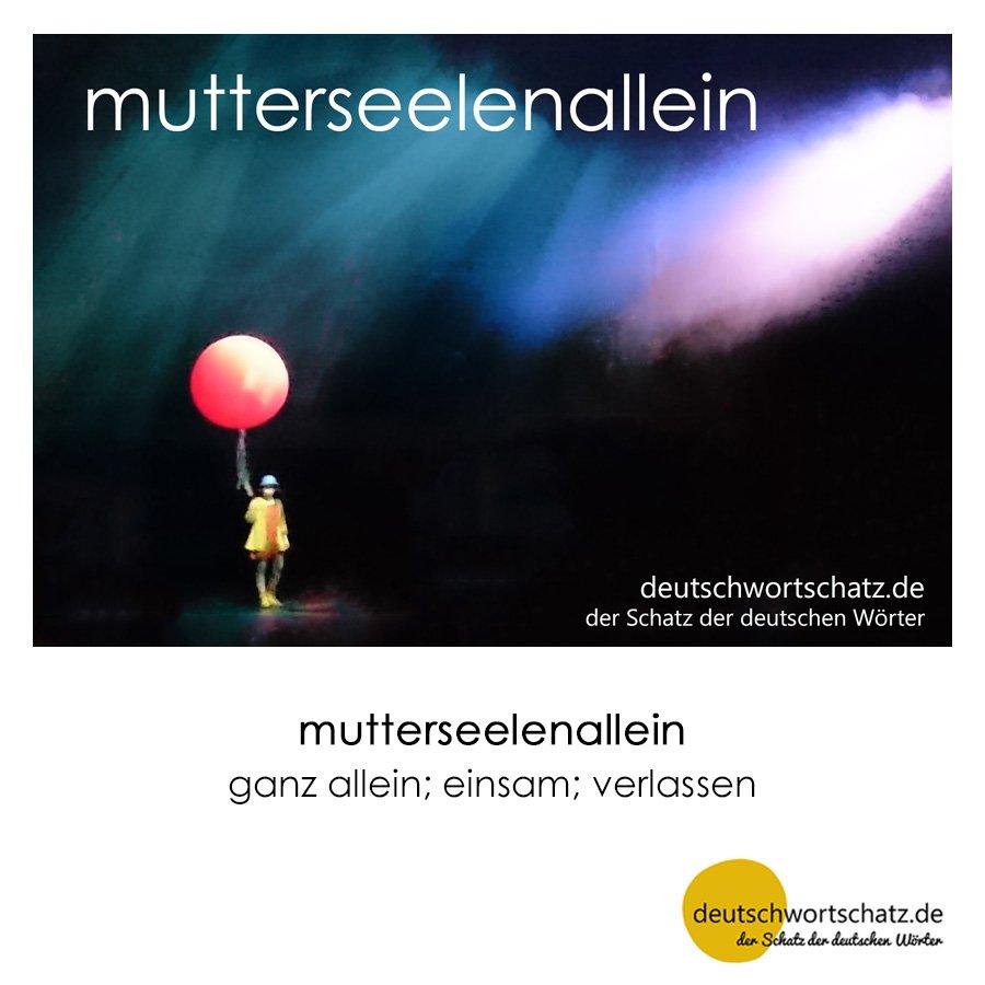 mutterseelenallein - Wortschatz mit Bildern lernen - Deutsch lernen