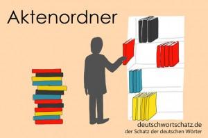 Aktenordner - Deutsch Wortschatz - Wortschatzbilder