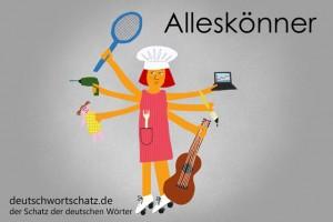 Alleskönner - Deutsch Wortschatz - Wortschatzbilder