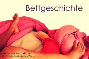 Bettgeschichte - Deutsch Wortschatz - Wortschatzbilder