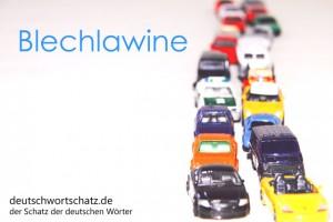 Blechlawine - Deutsch Wortschatz - Wortschatzbilder