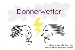 Donnerwetter - Deutsch Wortschatz - Wortschatzbilder