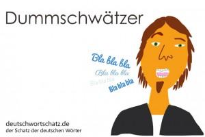 Dummschwätzer - Deutsch Wortschatz - Wortschatzbilder