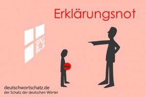Erklärungsnot - Deutsch Wortschatz - Wortschatzbilder