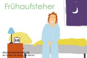 Frühaufsteher - Deutsch Wortschatz - Wortschatzbilder