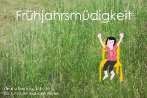 Frühjahrsmüdigkeit - Deutsch Wortschatz - Wortschatzbilder