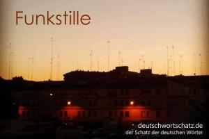 Funkstille - Deutsch Wortschatz - Wortschatzbilder
