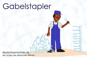 Gabelstapler - Deutsch Wortschatz - Wortschatzbilder