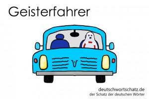 Geisterfahrer - Deutsch Wortschatz - Wortschatzbilder