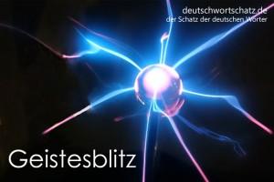 Geistesblitz - Deutsch Wortschatz - Wortschatzbilder