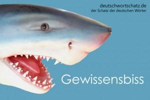 Gewissensbiss - Deutsch Wortschatz - Wortschatzbilder