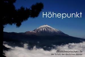 Höhepunkt - Deutsch Wortschatz - Wortschatzbilder