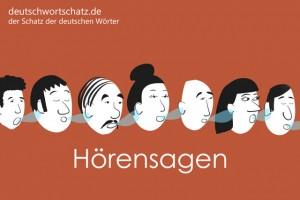 Hörensagen - Deutsch Wortschatz - Wortschatzbilder