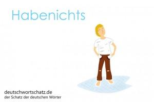 Habenichts - Deutsch Wortschatz - Wortschatzbilder