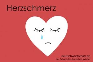 Herzschmerz - Deutsch Wortschatz - Wortschatzbilder