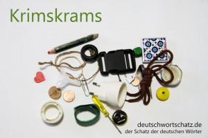 Krimskrams - Deutsch Wortschatz - Wortschatzbilder