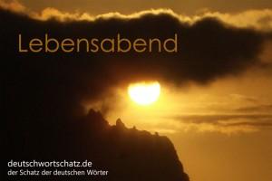 Lebensabend - Deutsch Wortschatz - Wortschatzbilder