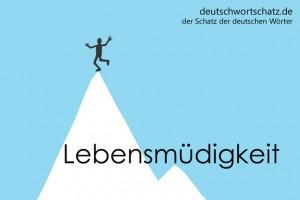 Lebensmüdigkeit - Deutsch Wortschatz - Wortschatzbilder