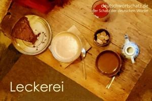 Leckerei - Deutsch Wortschatz - Wortschatzbilder
