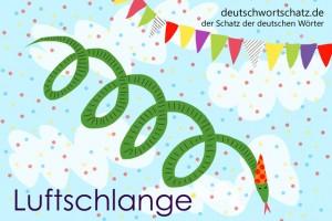 Luftschlange - Deutsch Wortschatz - Wortschatzbilder