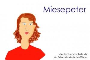 Miesepeter - Deutsch Wortschatz - Wortschatzbilder