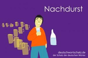 Nachdurst - Deutsch Wortschatz - Wortschatzbilder
