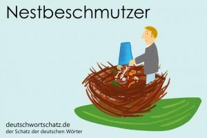 Nestbeschmutzer - Deutsch Wortschatz - Wortschatzbilder