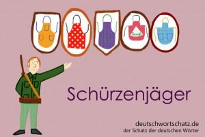 Schürzenjäger - Deutsch Wortschatz - Wortschatzbilder
