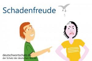 Schadenfreude - Deutsch Wortschatz - Wortschatzbilder