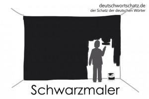Schwarzmaler - Deutsch Wortschatz - Wortschatzbilder