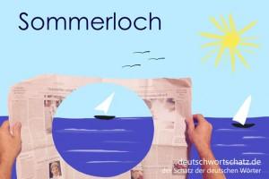 Sommerloch - Deutsch Wortschatz - Wortschatzbilder