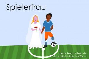 Spielerfrau - Deutsch Wortschatz - Wortschatzbilder