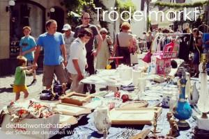 Trödelmarkt - Deutsch Wortschatz - Wortschatzbilder