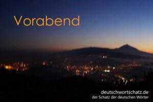 Vorabend - Deutsch Wortschatz - Wortschatzbilder