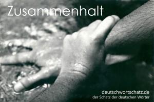 Zusammenhalt - Deutsch Wortschatz - Wortschatzbilder