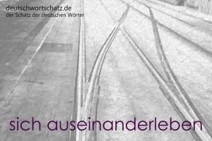auseinanderleben - Deutsch Wortschatz - Wortschatzbilder
