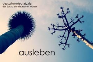 ausleben - Deutsch Wortschatz - Wortschatzbilder