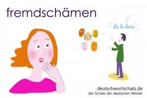 fremdschämen - Deutsch Wortschatz - Wortschatzbilder