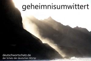 geheimnisumwittert - Deutsch Wortschatz - Wortschatzbilder