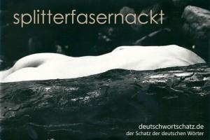 splitterfasernackt - Deutsch Wortschatz - Wortschatzbilder